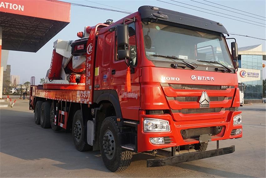 重汽五轴120吨起重运输车